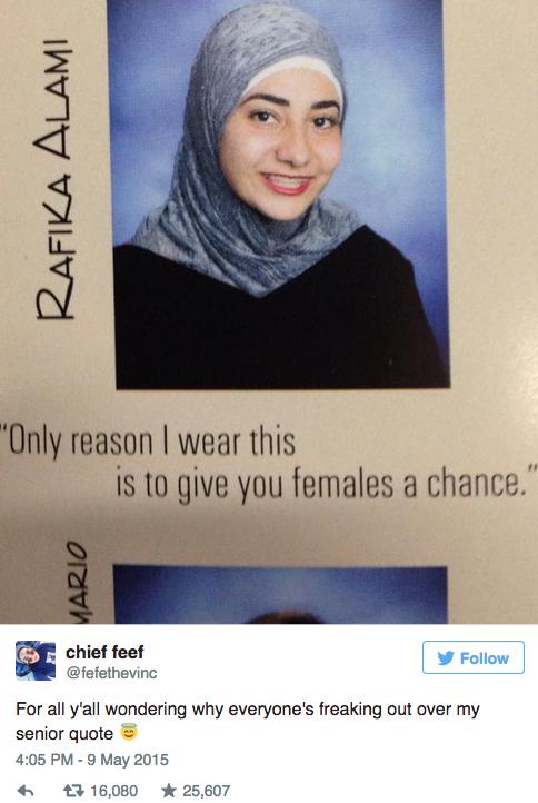 Muslim Girls Yearbook Quote Breaks Internet