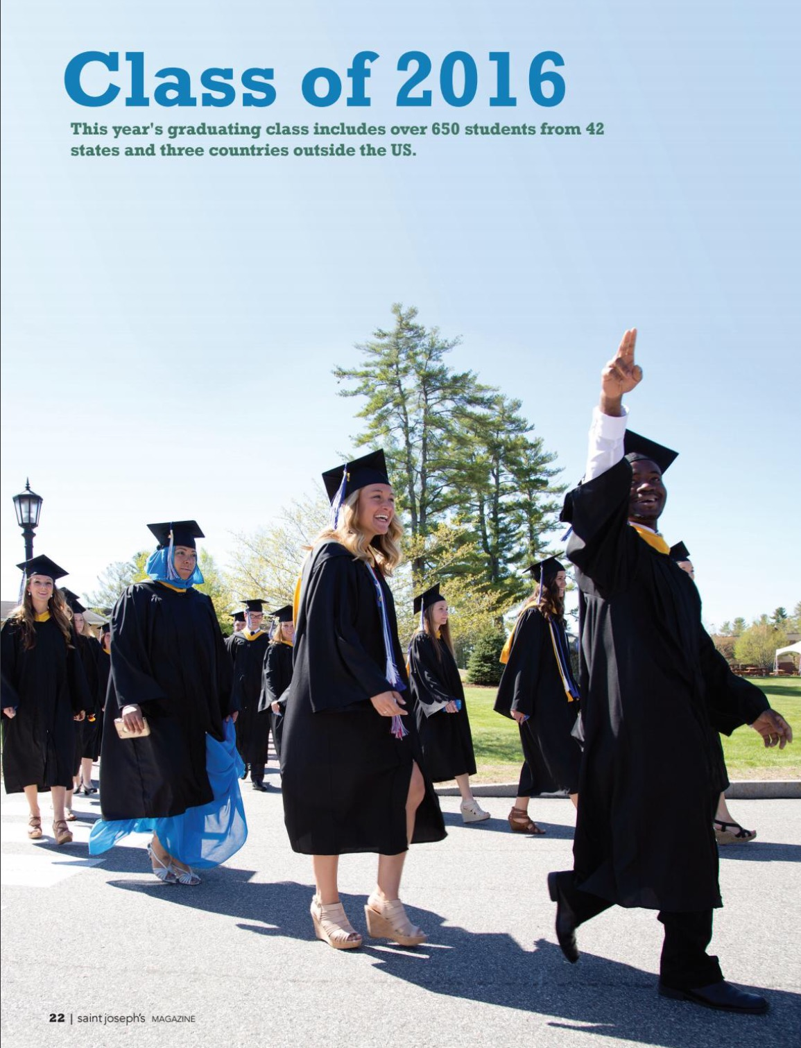 Lisandra featured on the cover of Saint Jospeh's College magazine as she celebrates her bachelor's degree in 2016