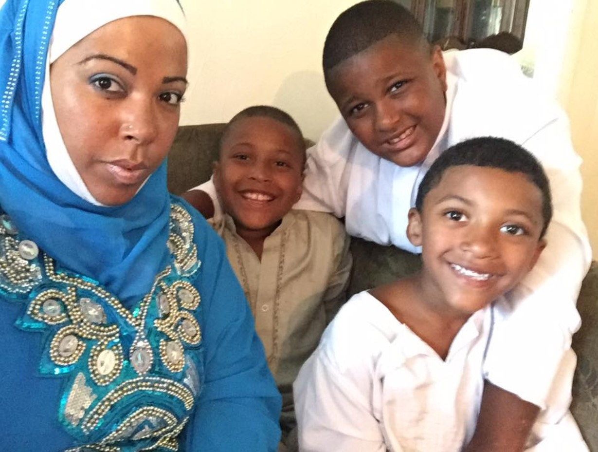 "Lisandra with her boys: Armani, 10, Jamil, 9, and Zamier, 6. ""The reason why I rise up, my boys, my everyday motivation."""
