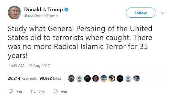 trump pigs blood
